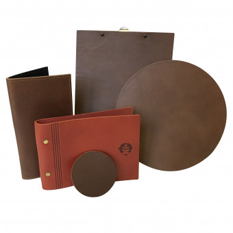 Saddle Hide Menu Cover  - Bespoke Menu Covers for Hotels and Restaurants